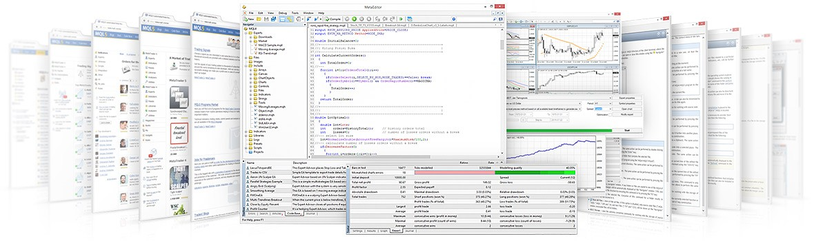 MQL4 IDE includes all features that a developer may need