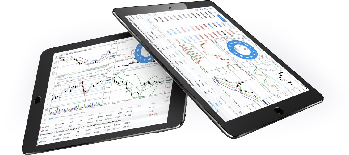 Powerful technical analysis features of MetaTrader 4 iPhone and iPad will help to make a trading decision