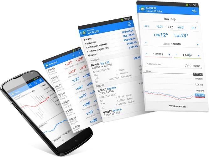 Благодаря поддержке полного набора торговых ордеров в MetaTrader 4 Android можно полноценно торговать на финансовых рынках