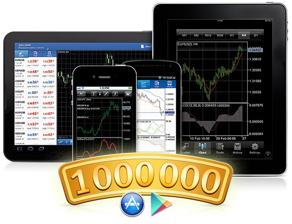 MetaTrader Mobile Platforms hit the one million users mark