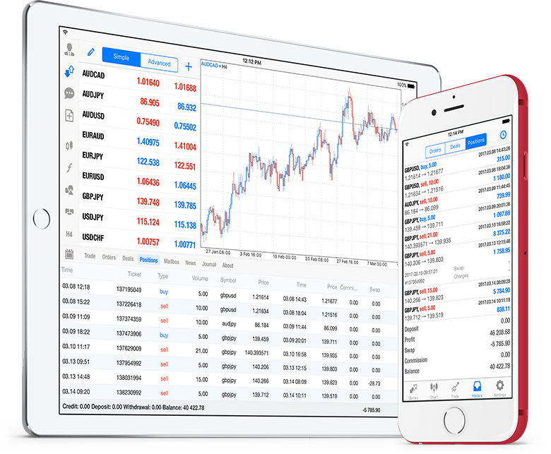 New MetaTrader 5 iOS build 1547 with history of positions