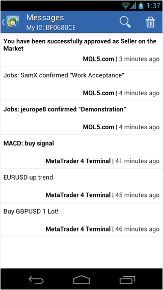 MetaTrader 4 Android Now Has Push Notifications