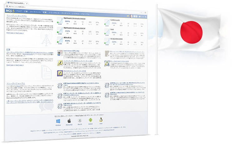 Japanese Version of MQL5.community Launched