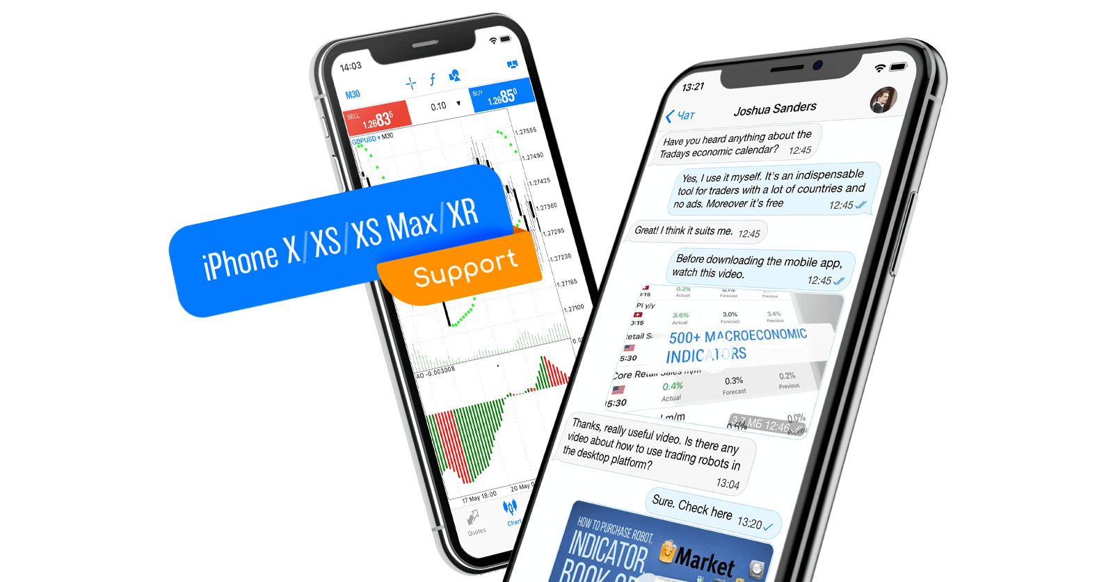 Suporte nativo para o iPhone X/XS/XS Max/XR no MetaTrader 5 iOS