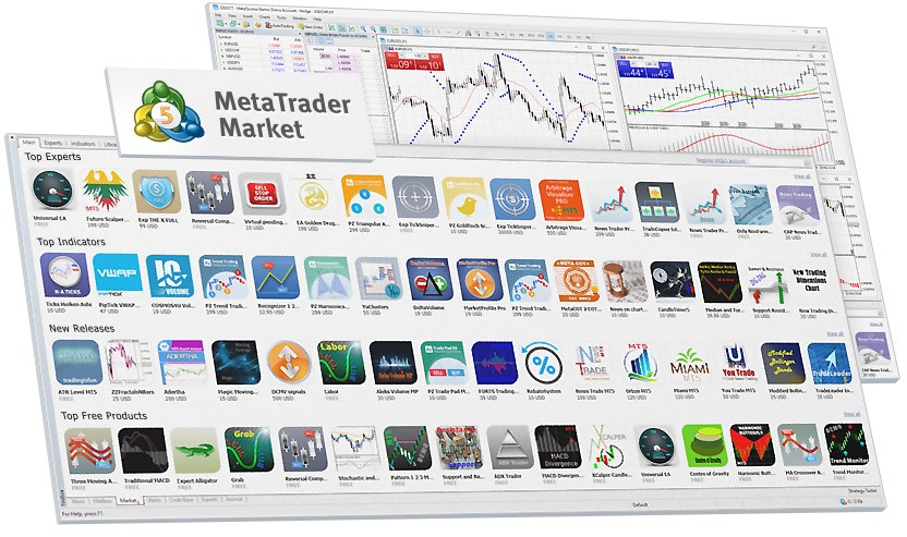 The new MetaTrader Market features app selections and sub-categories