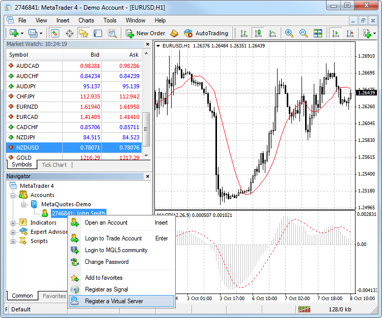Virtual Hosting on the MetaTrader 4 is Available