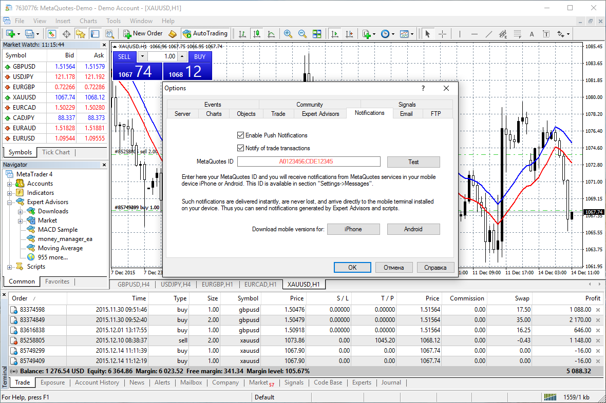 MetaTrader 4 (MT4): Features