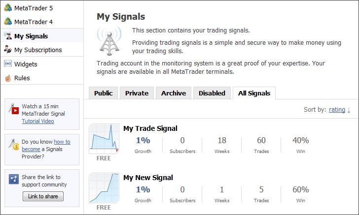 Signal Providers - Signals - MetaTrader 4 Help