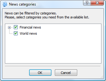 News categories