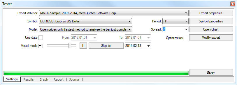 4 tester metatrader out strategy spread