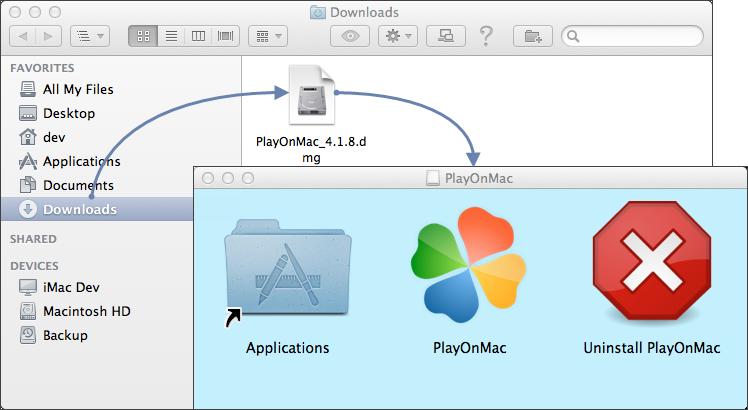 Установка PlayOnMac