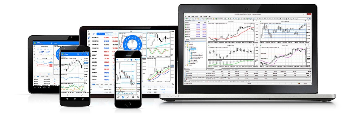 MetaTrader 4 for Windows, Mac OS X and Linux powered PCs, as well as for iOS and Android mobile devices